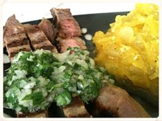 Steak additions:  Lemon Garlic Marinade and Cilantro Chimchurri Sauce!  A fantastic burst of flavor to add to your steaks that take it from ordinary to foodie in no time!!