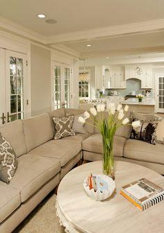 Neutral colored family room- Color pana silllon circular