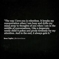 Beau Taplin | Relentless