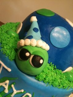 Turtle 1st Birthday Cake