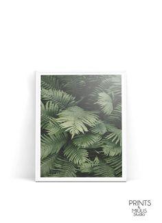 Palm leaf palm tree palm leaves leaf print by PrintsMiuusStudio
