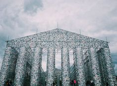 Argentinian artist Marta Minujín, 74, has created a monumental replica of the Greek Parthenon from 100,000 copies of banned books. According to the artist, it symbolizes the resistance to political repression.