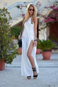 White jumpsuit in Italy