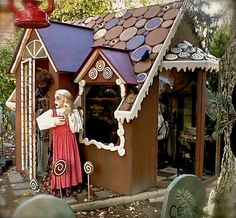 I always wanted to do a gingerbread house with a smoking oven where the kids had to come in to get their candy....