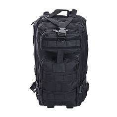 30L Military Molle Camping Backpack Tactical Camping Hiking Travel Bag Black #Yescom
