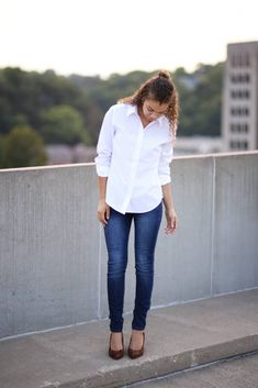 c72c3fb28 20 Best White Button Down Shirt images | Classy outfits, Clothing ...