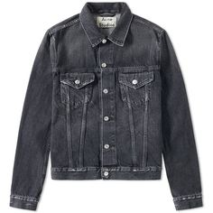 Acne Studios Who Denim Jacket (37705 RSD) ❤ liked on Polyvore featuring men's fashion, men's clothing, men's outerwear, men's jackets and mens cotton jacket