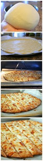 Fail-Proof Pizza Dough and Cheesy Garlic Bread Sticks | Laurens Latest