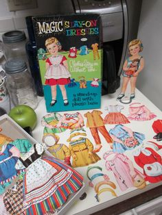 1961 Magic Stay-On Dresses Whitman Paper Doll No 4618 with Original Stand on Etsy, $18.00