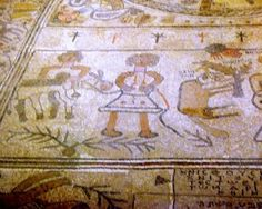 Ancient mosaics from Beit Shean