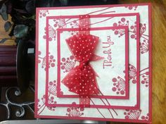 Triple layer stamping thank you card~AS