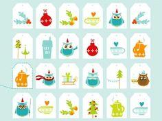 Süße Teebeutel-Anhänger für Kekse