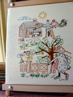 Pippi Longstocking Embroidery Pattern PDF by littledorritandco