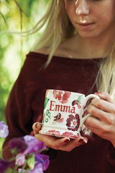 Emma Bridgewater Personalised Zinnias 0.5 pint mug