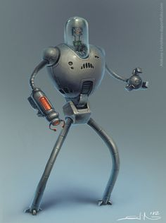 That is what we all want our robot to look like someday! Now to figure out how to make it work. - Oldbot by A Litvishkov