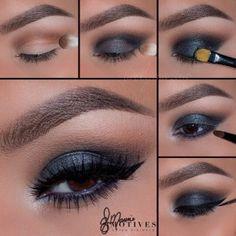 Blue Smokey Eye Pictorial Steps