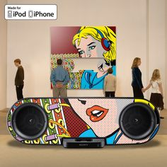 """""""With a maximum 75 RMS of high quality sound, the SK8 is the perfect home for your iPod.""""http://www.amazon.co.uk/Sony-Customisable-iPhone-Docking-Stations/dp/product-description/B003RT3GHA This is tight-it charges plays and docks le ipod/iphone"""