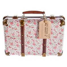 Sass and Belle Vintage Floral Suitcase - Roses Hard Suitcase, Suitcase Set, Vintage Roses, Vintage Floral, Ted Baker, Suitcase Storage, Sass & Belle, Vintage Trunks, Vintage Luggage