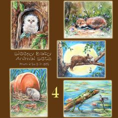 SPECIAL 20 percent 82 to 89 ONLY Print set 4 by LaurieShanholtzer, $48.00