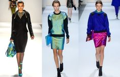 Fashion Week Breaking Trends Fall 2013: Colored & Iridescent Metallics - Accessories Magazine