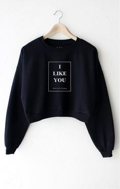 I Like You When You're Sleeping Cropped Sweater