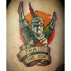 #darksouls #darksoulstattoo #videogametattoo #praisethesun #solaire #videogame #tatto