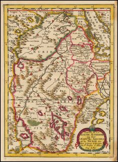 Nicolas Samson 1657 (Mythical Sources of the Nile) Partie de La Haute Aethiopie ou sont L'Empire des Abissins et la Nubie,& c. - Barry Lawrence Ruderman Antique Maps Inc.