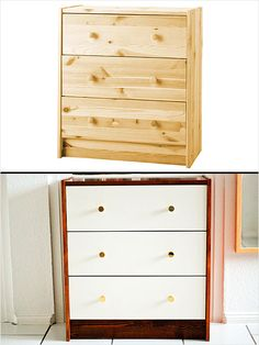 Ikea Hack: Rast Chest. Love this wood stained look. #home http://www.ivillage.com/ikea-hack-how-transform-and-repurpose-your-ikea-furniture/7-a-525310