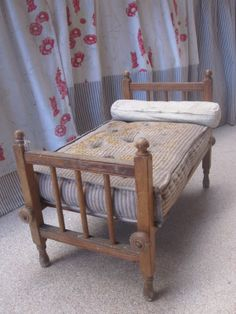 Perfectly aged dolls bed. www.hopeandelvis.com