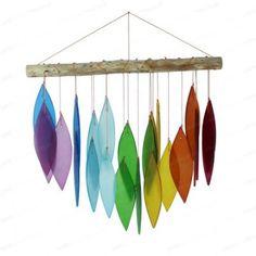 Glass Wind chime - Rainbow V