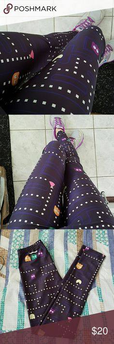 Pacman Leggins NWOT  88% Polyester 12% Elastane Not Iron Fist. Taged for exposure Iron fist Pants Leggings