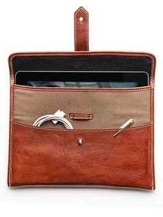 Canvas & Leather iPad Case
