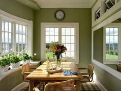 dining room green plants
