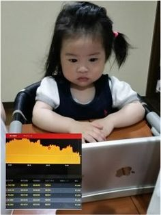 タブレットPCを真剣に見つめる杏美 ただいま株価(USD/JPY)の勉強中です  High  Low を的中させています もちろん体験版で取引してますよ 将来はデイトレーダーにでもなる気かな 笑   #バイナリーオプション #株価 #USD/JPY #iPad  tags[福岡県]