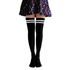 Women's Long-barreled Black And White Striped Knee Socks In Tube Socks. approximately Cotton Blend 90% + Spandex 5% + Poly/Nylon 5%. One Size Fit : XS to M , Shoe size : US 5~9 / UK 2.5~7 / EU 35~39 / 220mm~260mm. Please wash them by hand in cool water and mild detergent. Lay flat to dry. Don't bleach, don't tumble dry and no ironing!. The perfect cable knit sock for boot season. Cable Knit Over The Knee High Casual Socks.