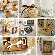 guest favor - table gifts - ideas for The Hunt is Over - county wedding, rustic wedding