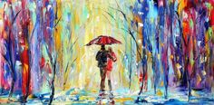 pastel pallette knife painting