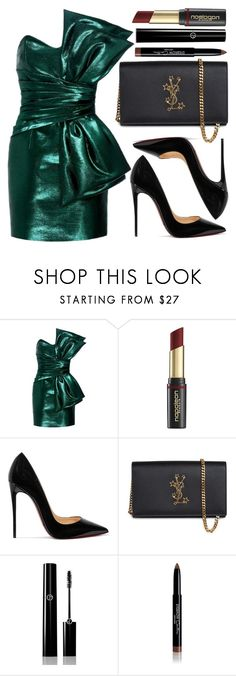 """street style"" by sisaez ❤ liked on Polyvore featuring Yves Saint Laurent, David Jones, Christian Louboutin, Giorgio Armani and Givenchy"