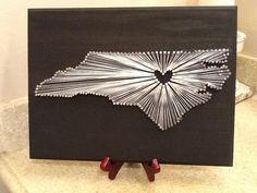 Carolina on My Mind, North Carolina State String Art