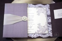 Love this elegant purple wedding invitation, featured on Facebook by Bridal Guide magazine.