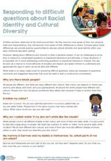 Responding to difficult questions about Racial Identity and Cultural Diversity