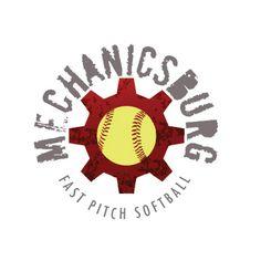 circular sports logo for softball team Mechanicsburg by thelogoboutique.com Marathon Logo, Personal Training Logo, Logo Basketball, Round Logo, Round Design, Sports Logo, Softball, Logo Design, Logos