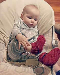 Ravelry: Baby Hausschuhe pattern by Ines M. Ravelry, Kids Rugs, Knitting, Pattern, Kid Friendly Rugs, Tricot, Breien, Knitting And Crocheting, Model