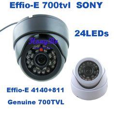 Genuine 1/3'' Sony CCD Effio-E 700tvl 24leds IR indoor HD 960H Security CCTV dome camera surveillance camera free shipping