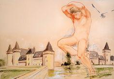 il gigante (Pittura),  70x50 cm da paolo archilei pastello su cartoncino