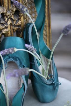 Lavender and Ballet Shoes Pointe Shoes, Toe Shoes, Ballet Shoes, Dance Ballet, Aqua Color, Aqua Blue, Purple, Mint Green, Shades Of Teal