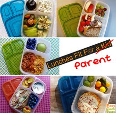 Lunches fit for a parent. Adult size lunches packed in EasyLunchboxes.