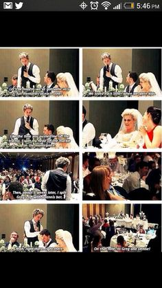 I really hope Niall is best man at Zayn's wedding too, because he gives amazing speeches.