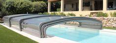 Cubierta de piscina telescópica | Cubierta piscina Abrisud - Fabricante cubierta de piscina