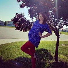 What do you do when you are 36 weeks pregnant in the middle of the summer…  LuLaRoe, Irma, tunic, top, Leggings, Americana, pregnancy, style, fashion